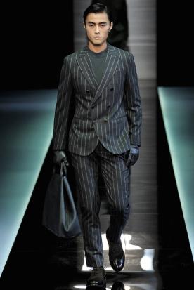 ジョルジオアルマーニのフランネルスーツ